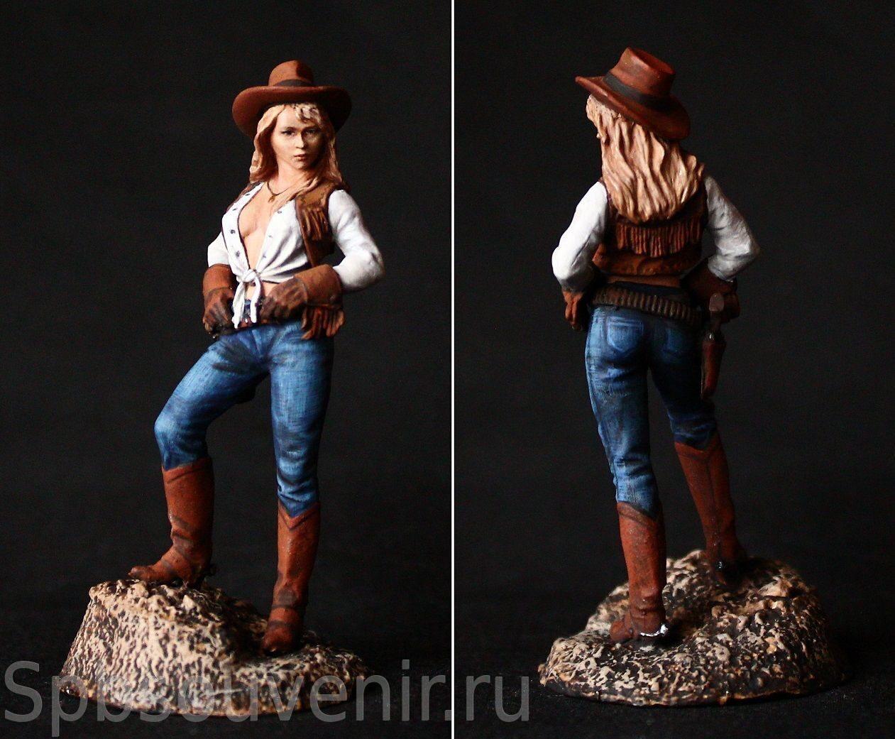 Девушка ковбой на диком западе